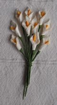 OFF WHITE CALLA LILY aka ARUM LILY Mulberry Paper Flowers